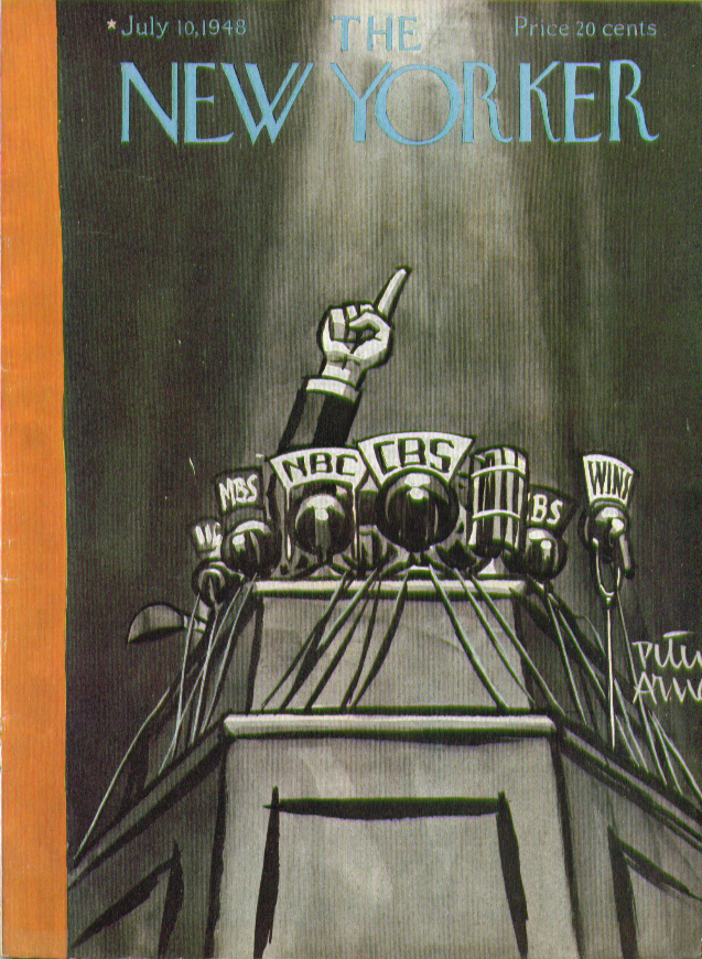 Image for New Yorker cover Arno presidential convention 7/10 1948