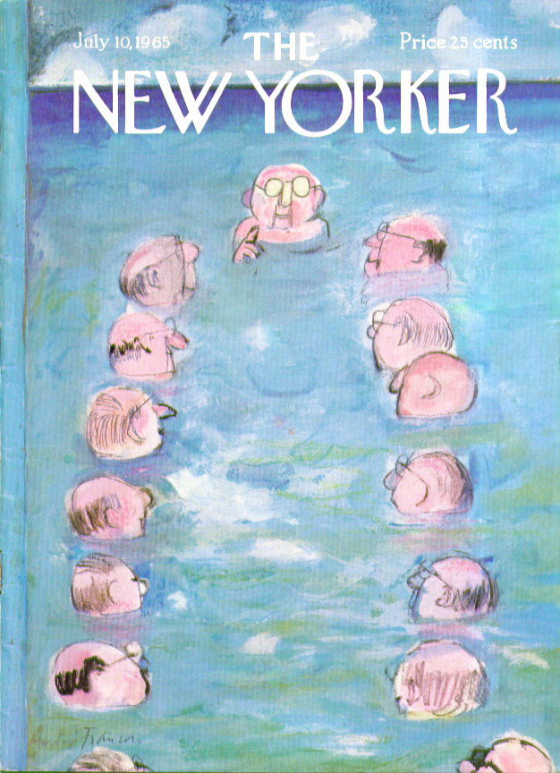 Image for New Yorker cover Francois beach boardroom 7/10 1965