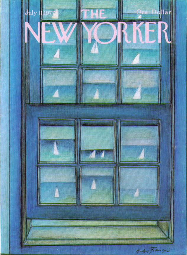 Image for New Yorker cover Francois sailboats in window 7/11 1977