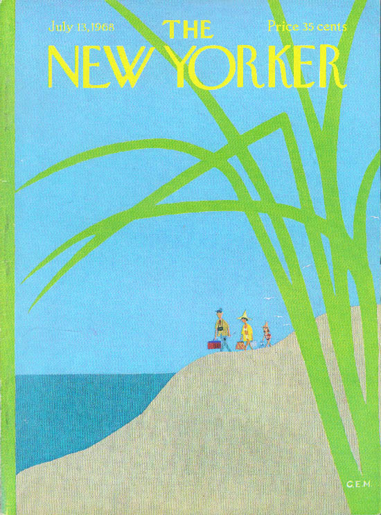 Image for New Yorker cover Martin family heads to beach 7/13 1968