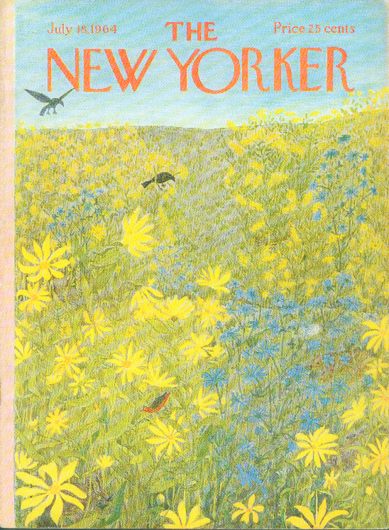 New Yorker cover Karasz birds animals flowers 7/18 1964