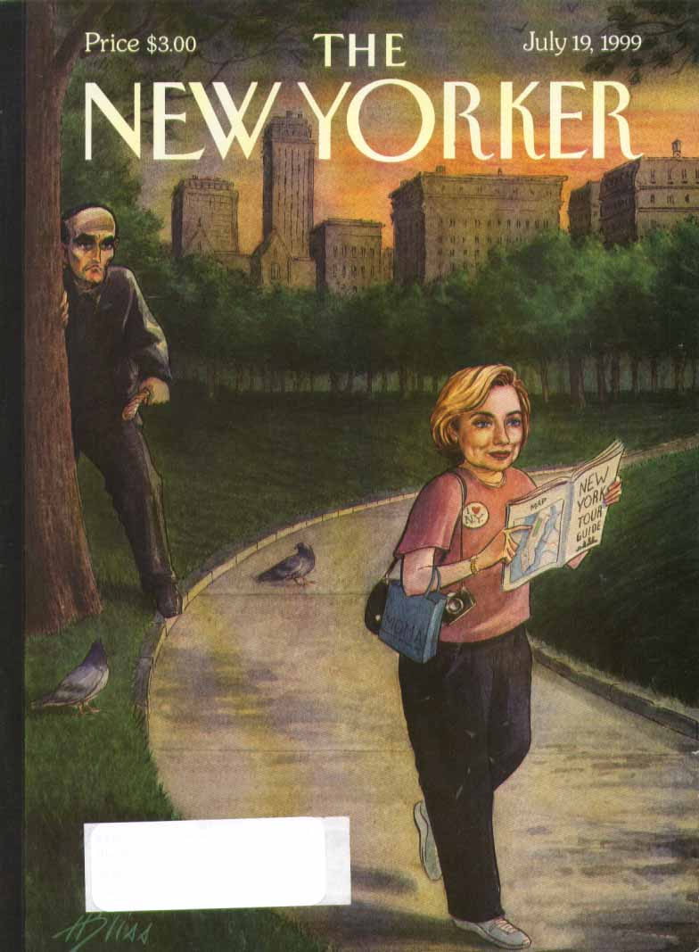 New Yorker cover Bliss Giuliani mugs Hilary 7/19 1999