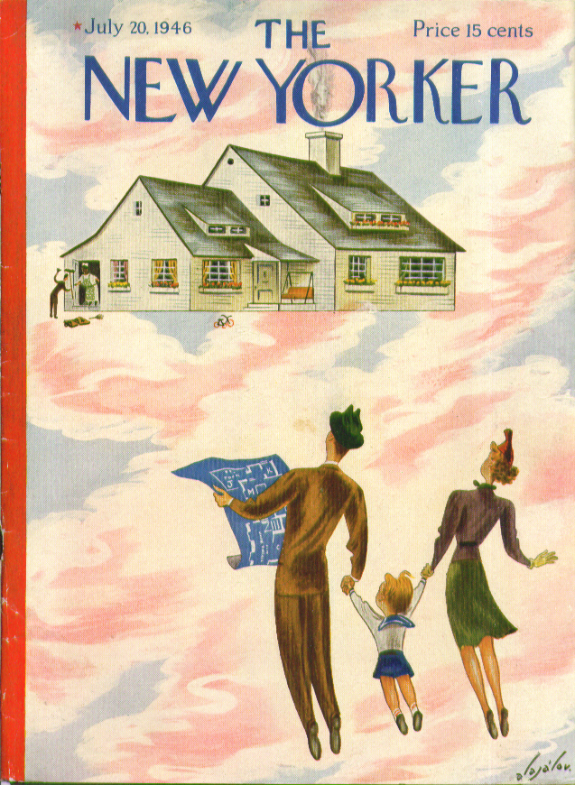 New Yorker cover Alajalov family dream house 7/20 1946