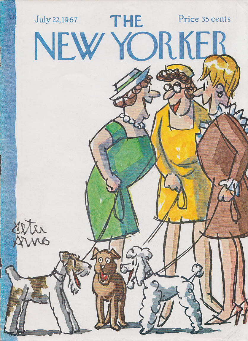 Image for New Yorker cover Arno women and their dogs 7/22 1967