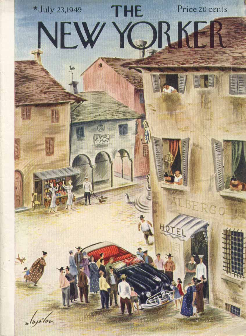 New Yorker cover Alajalov Lincoln in Mexico 7/23 1949