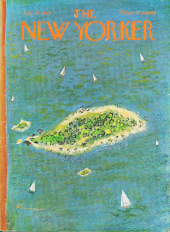 New Yorker cover Birnbaum vacation island 7/27 1968