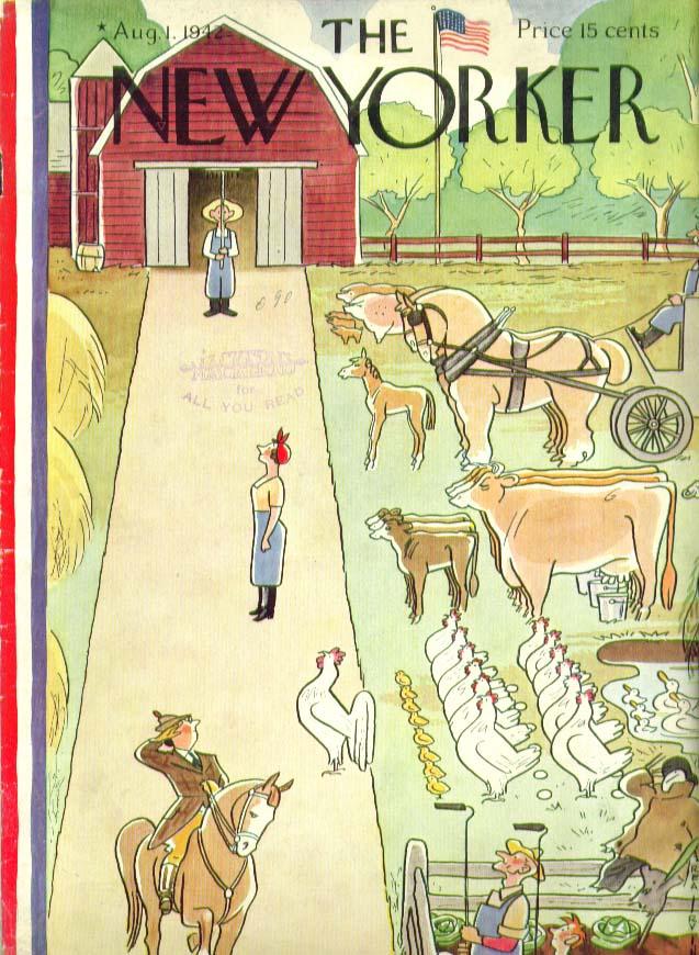 New Yorker cover Irvin livestock & farm staff 8/1 1942