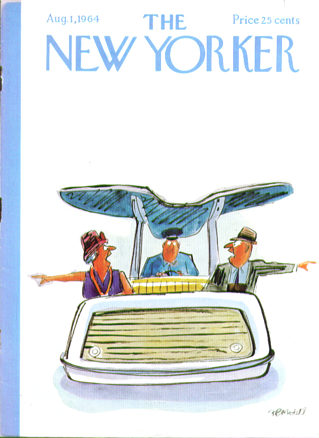 Image for New Yorker cover Modell older couple dispute 8/1 1964