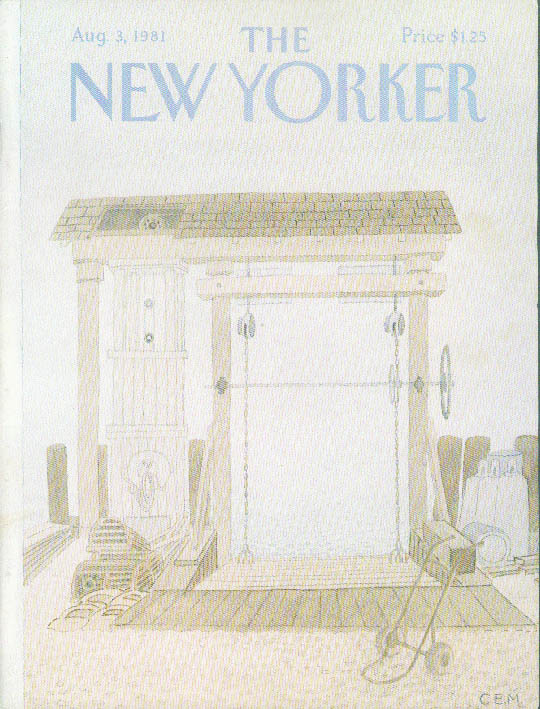 Image for New Yorker cover Martin lobster station 8/3 1981