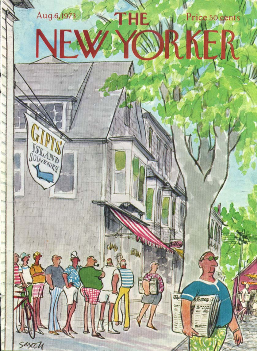 Image for New Yorker cover Saxon summer & Sunday Times 8/6 1973