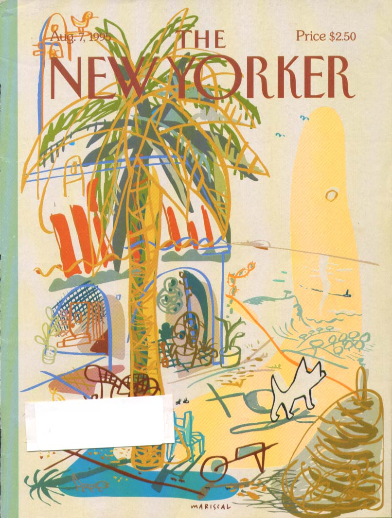 Image for New Yorker cover Mariscal dog on beach 8/7 1995