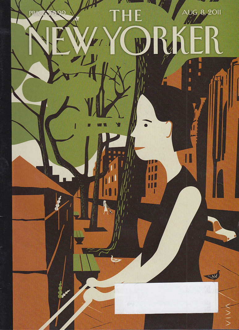 New Yorker cover 8/8 2011 Viva: mothers on sidewalk pushing strollers