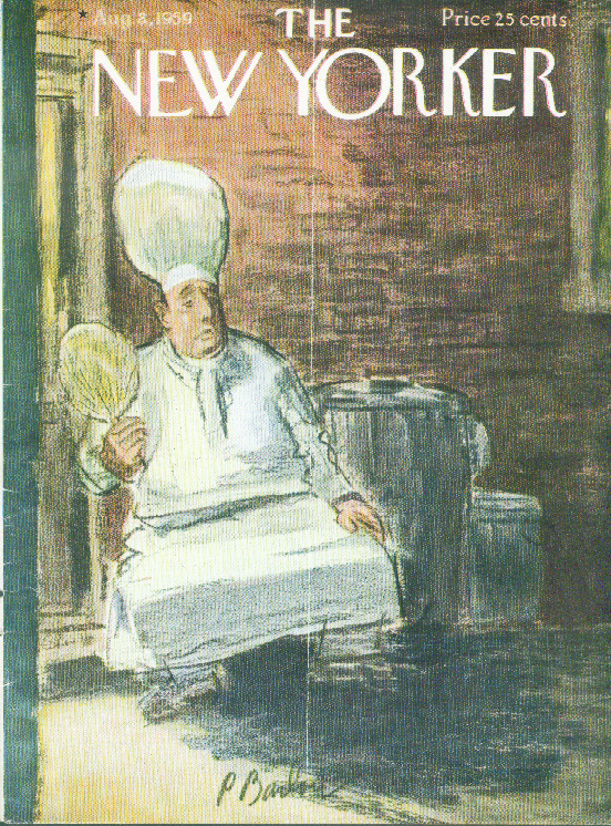 New Yorker cover Barlow chef fans self alley 8/8 1959