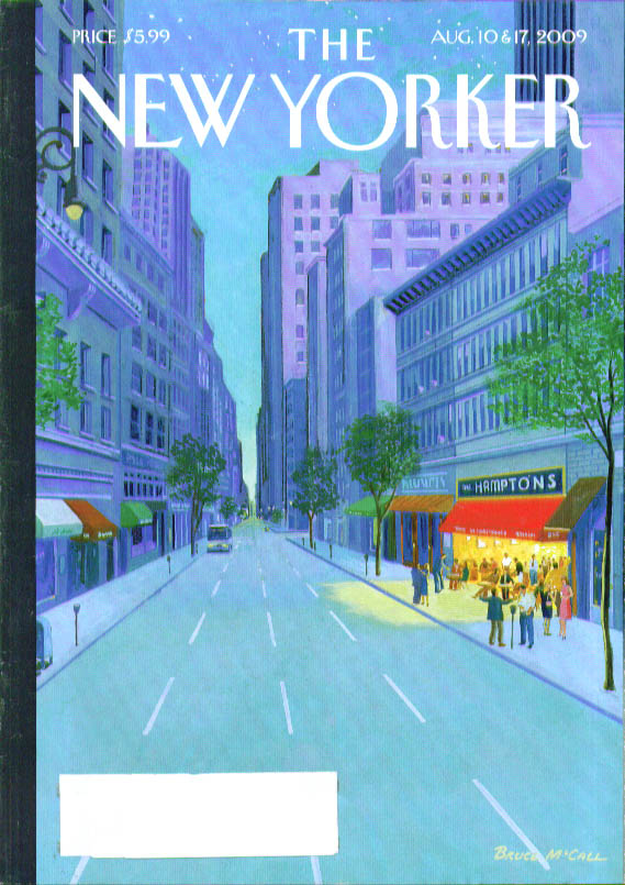 New Yorker cover Bruce McCall The Hamptons as City storefront 8/10 & 8/17 2009