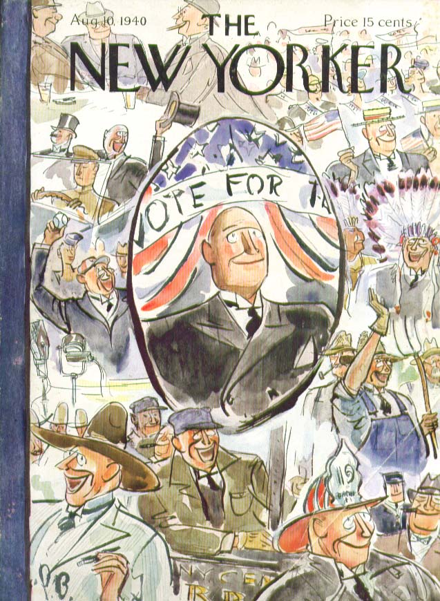 New Yorker cover Barlow montage of candidate 8/10 1940
