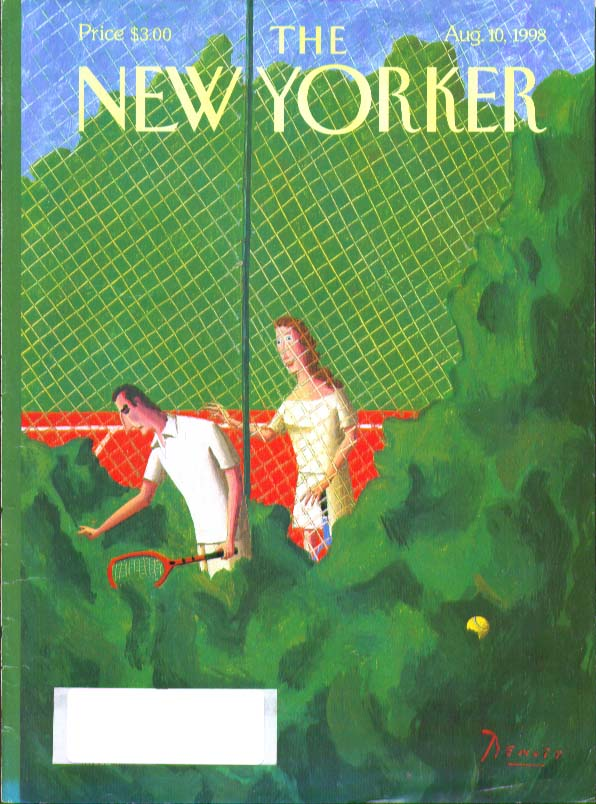 New Yorker cover Benoit lost tennis ball 8/10 1998