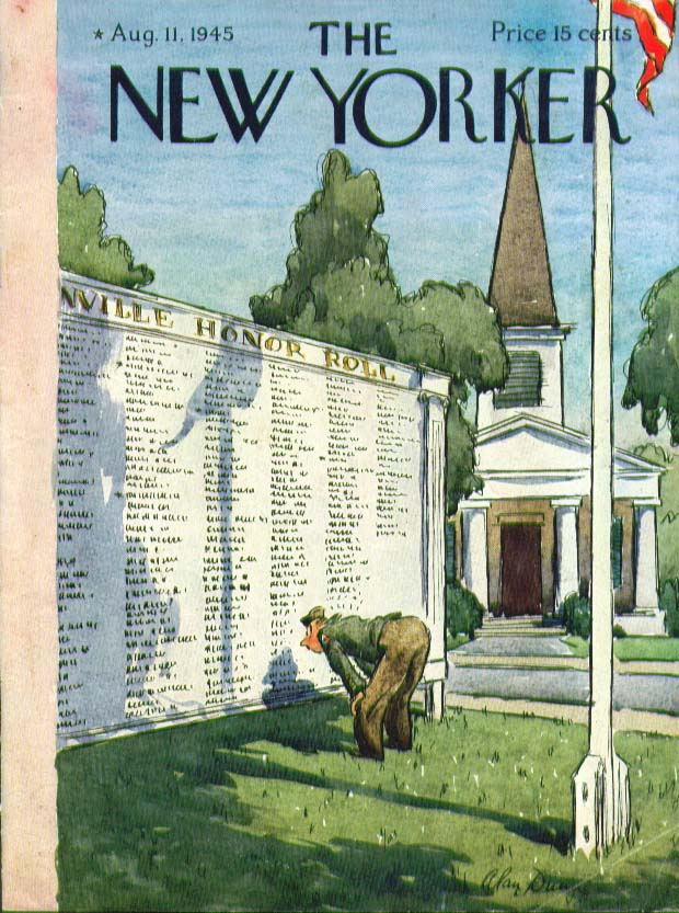 Image for New Yorker cover Dunn town wartime honor roll 8/11 1945