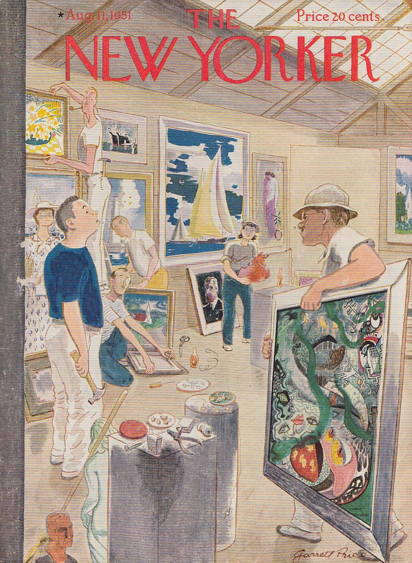 New Yorker cover Price Staunch surrealist among realists 8/11 1951