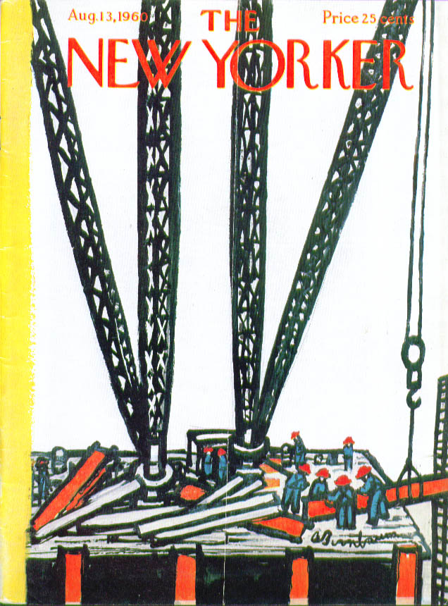 New Yorker cover Birnbaum construction worker 8/13 1960