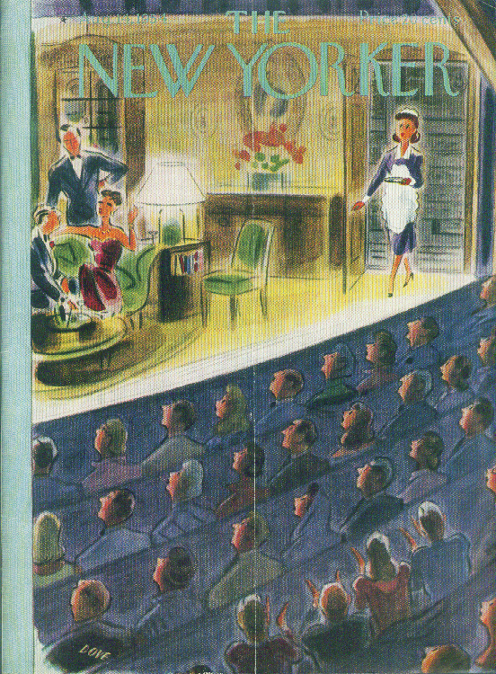 Image for New Yorker cover Dove friends of bit player 8/14 1954