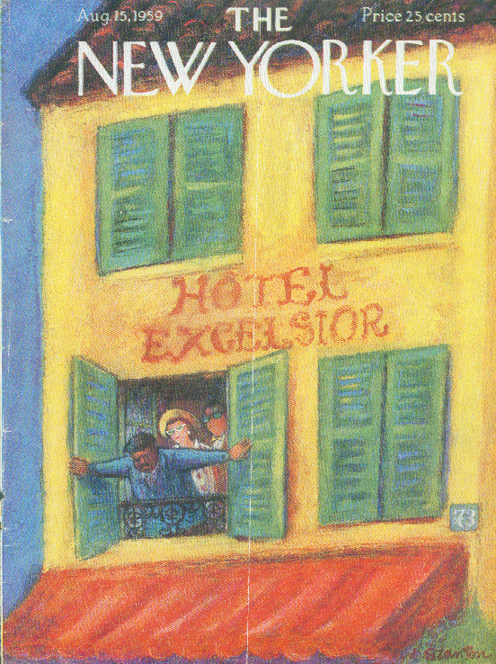 Image for New Yorker cover Szanton opening shutters 8/15 1959