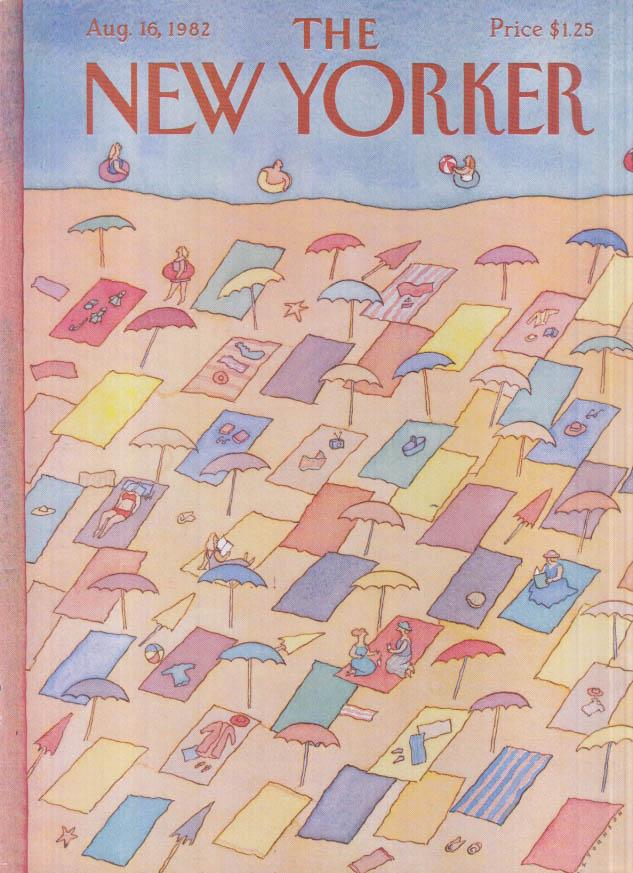 New Yorker cover Johnson beach blankets 8/16 1982