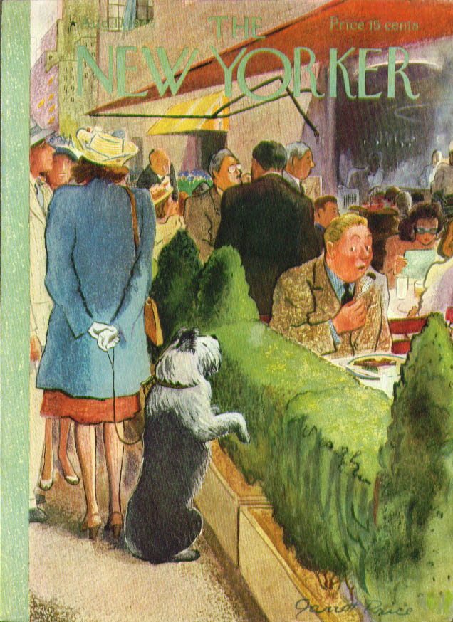 New Yorker cover Price sheepdog watch outdoor 8/17 1946