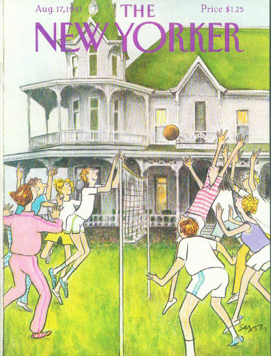 Image for New Yorker cover Saxon volleyball 8/17 1981