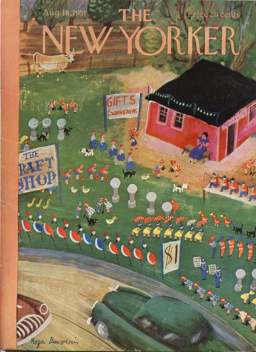 Image for New Yorker cover Duvoisin roadside craft shop 8/18 1951