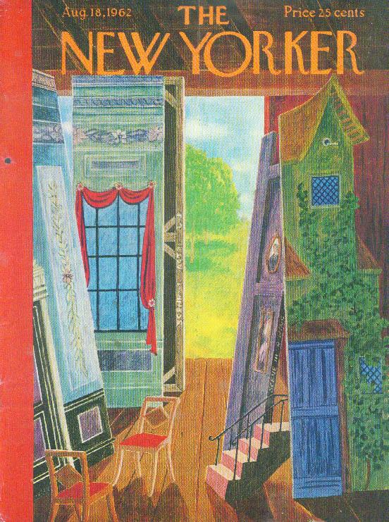 New Yorker cover Karasz set storage barn 8/18 1962