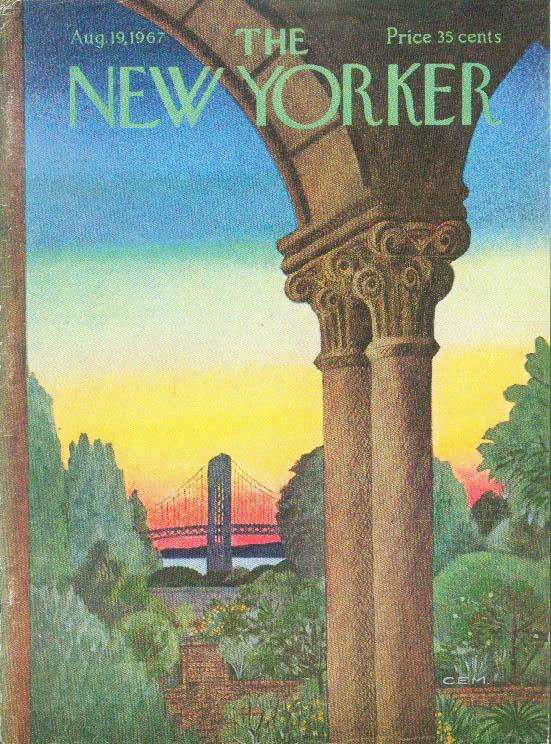 Image for New Yorker cover Martin sunset over GW Bridge 8/19 1967