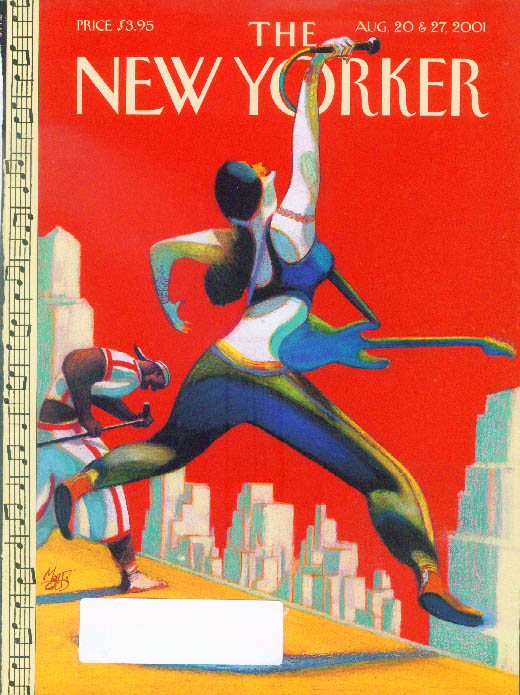 Image for New Yorker cover Lorenzo Mattotti outdoor rock concert 8/20 & 8/27 2001
