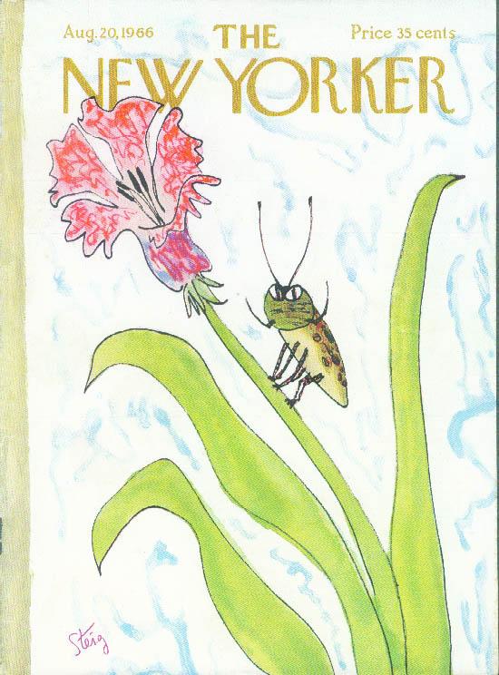 New Yorker cover Steig fierce beetle 8/20 1966