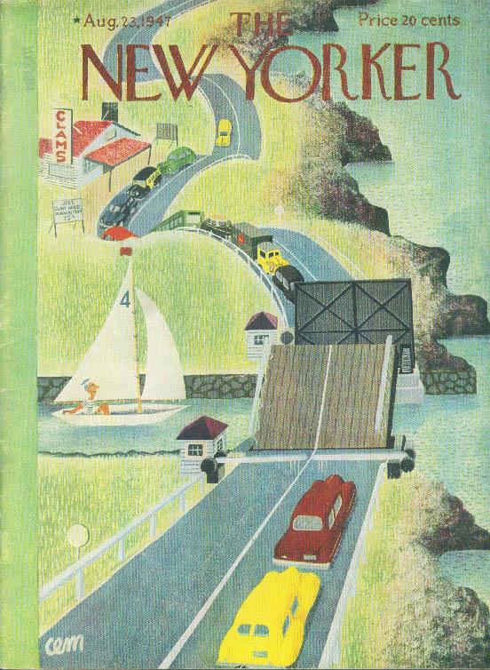 Image for New Yorker cover Martin coastal drawbridge 8/23 1947