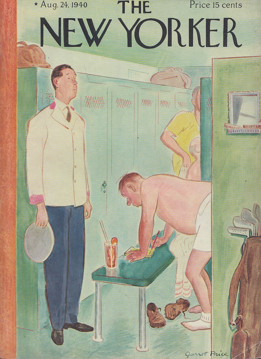 New Yorker cover Price locker room highball 8/24 1940