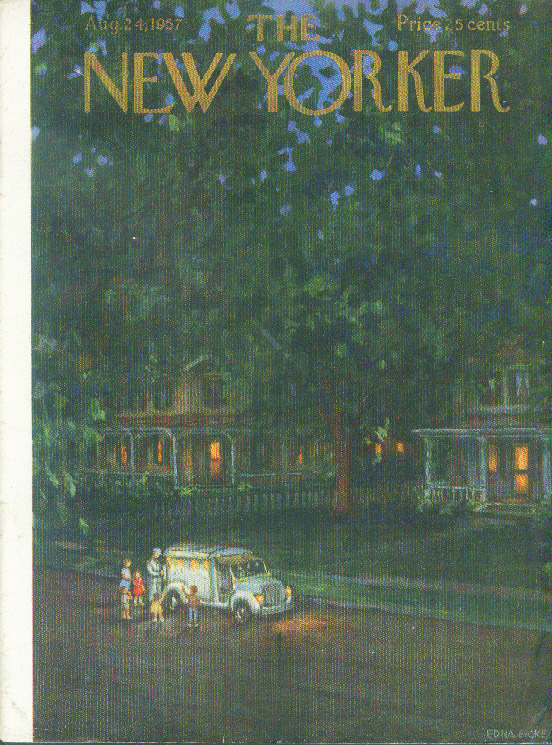 New Yorker cover Eicke ice cream truck night 8/24 1957
