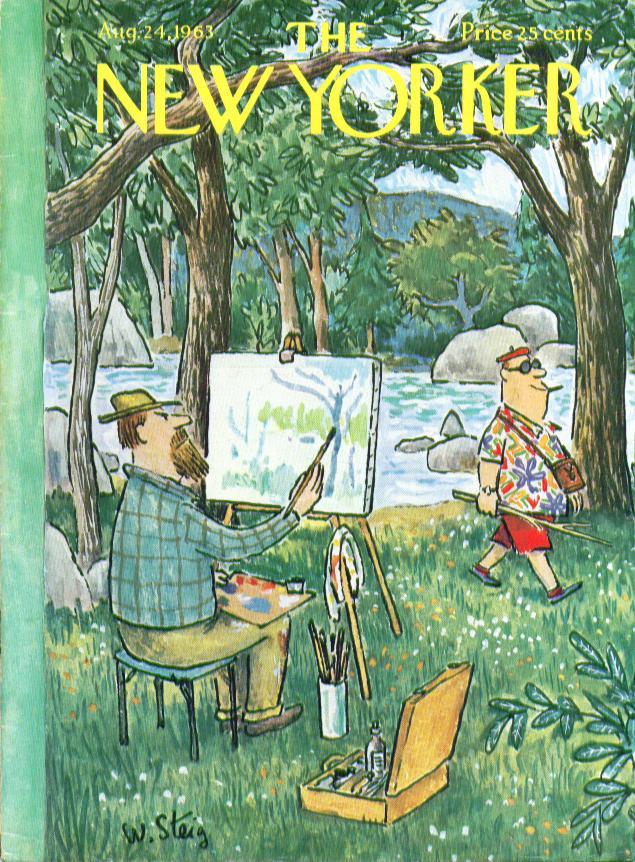 New Yorker cover Steig hiker crosses artist 8/24 1963