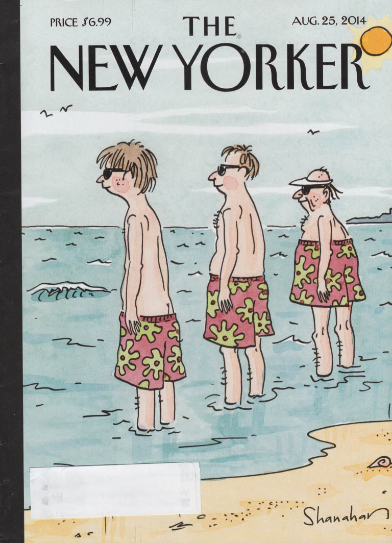 New Yorker cover 8/25 2014 Shanahan: same swimsuit worn low, medium & high