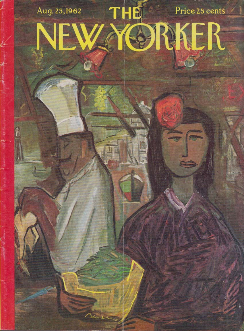 New Yorker cover Bemelmans chef & server 8/25 1962