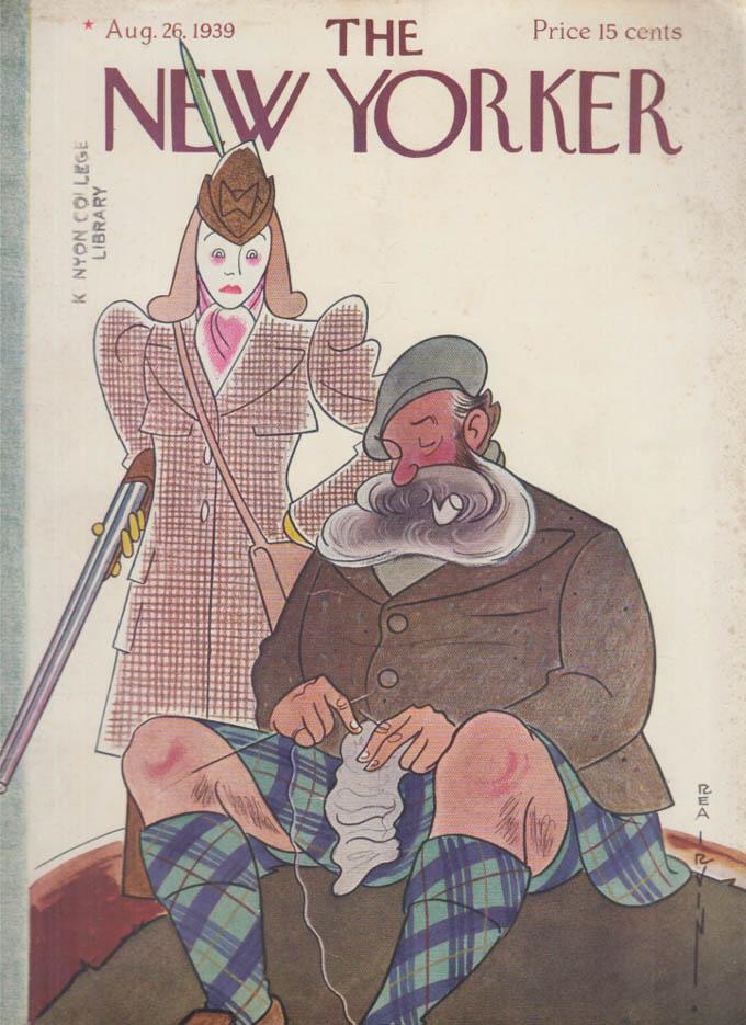 New Yorker cover Irvin Scotsmen knits kilt 8/26 1939
