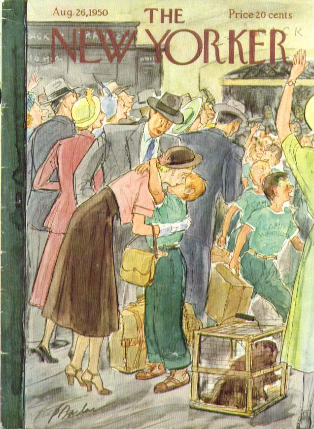 New Yorker cover Barlow boy home from summer camp 8/26 1950
