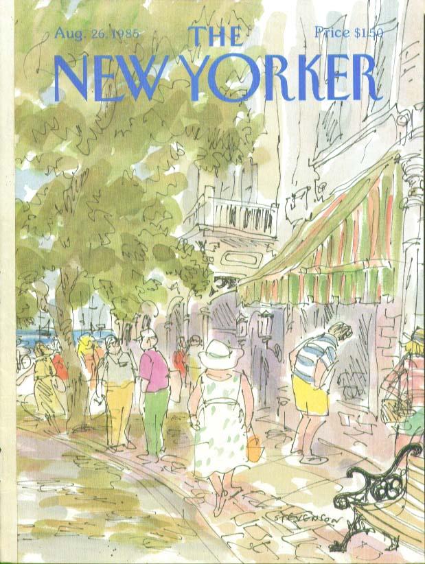 Image for New Yorker cover Stevenson pedestrians 8/26 1985