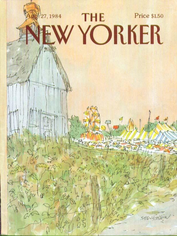 Image for New Yorker cover Stevenson country carnival 8/27 1984