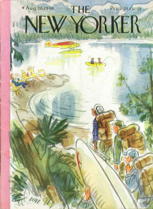 Image for New Yorker cover Dove trudging & portaging 8/28 1948