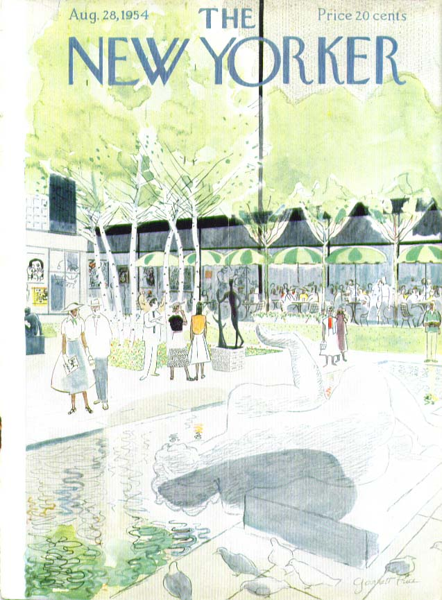 New Yorker cover Price Museum of Modern Art Sculpture Garden 8/28 1954