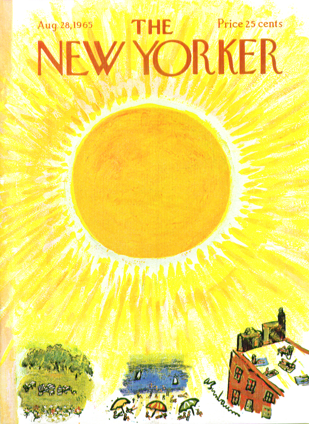 Image for New Yorker cover Birnbaum bright summer sun 8/28 1965