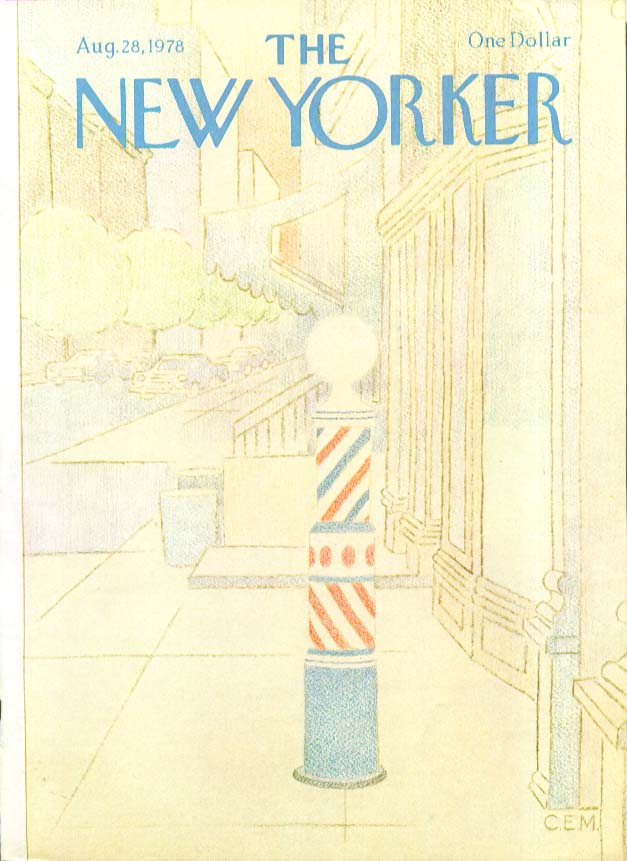 Image for New Yorker cover Martin barberpole in city 8/28 1978