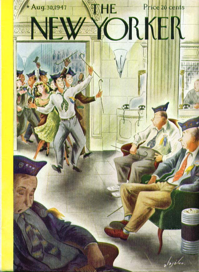 New Yorker cover Alajalov VFW generations 8/30 1947