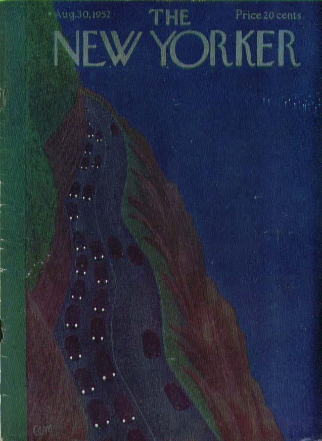 New Yorker cover Charles E Martin homeward bound traffic 8/30 1952