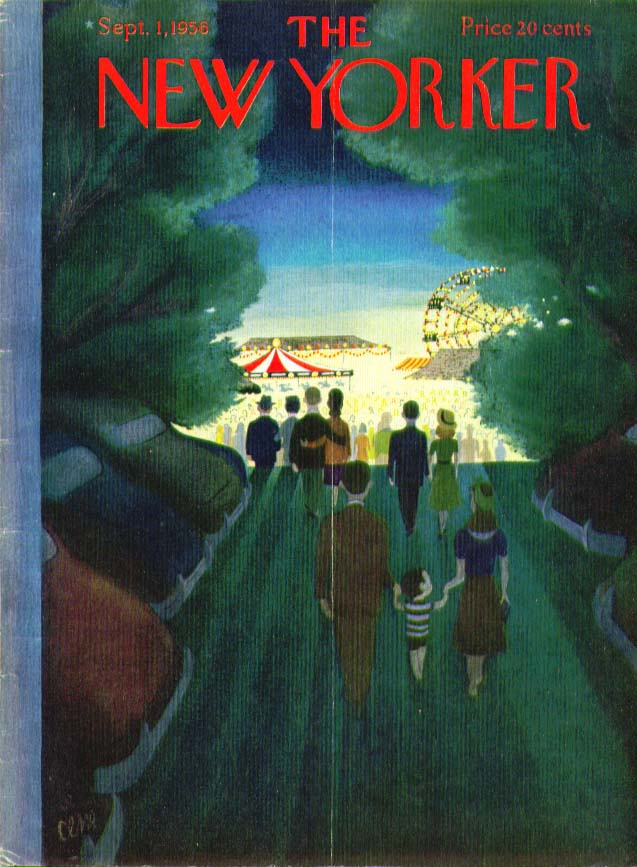 Image for New Yorker cover Martin county fair at night 9/1 1956